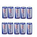 10 unids/lote 1300 mAh CR123A CR123 123A 3.0 V 3 V LiFePO4 Batería de Litio Para Cámaras Linternas Antorcha ect.