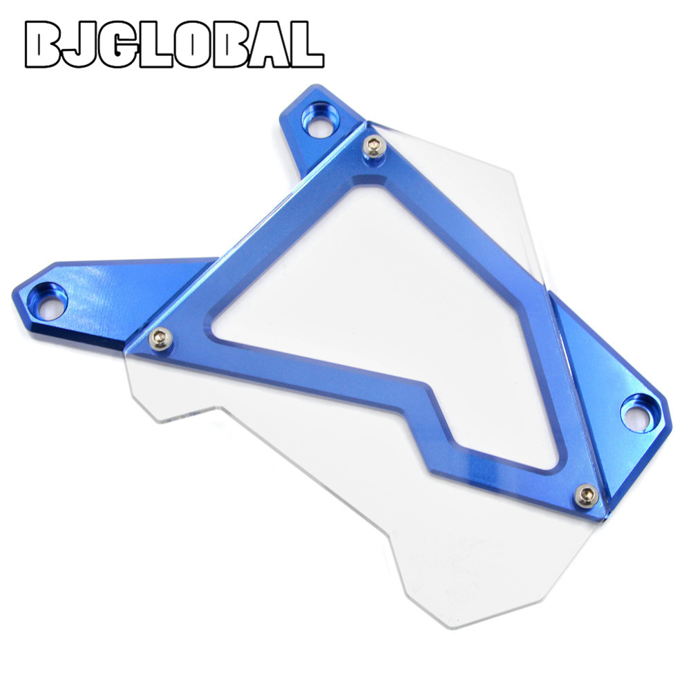 ФОТО Free Shipping Motorcycle Front Sprocket Cover Panel Left Engine Guard Chain Cover Protection For BMW S1000R  2014-2015 S1000RR