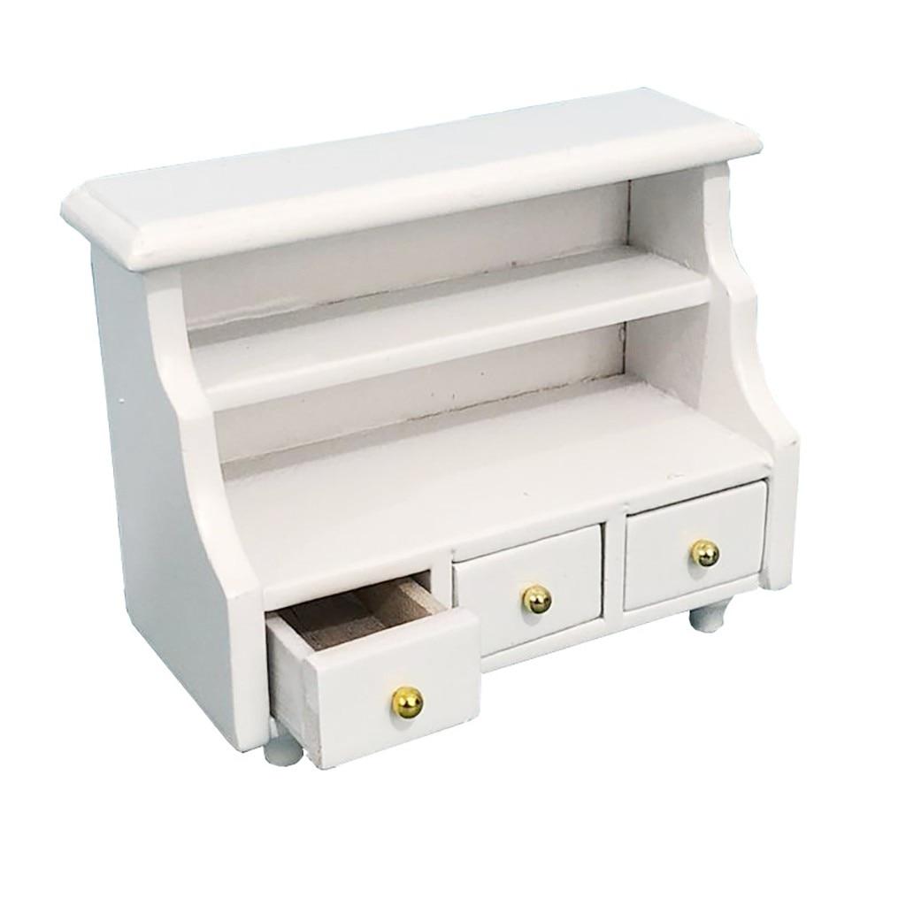 Mini Dollhouse Furniture Cabinet Miniature Living Room Kids Pretend Play Toy 5.31
