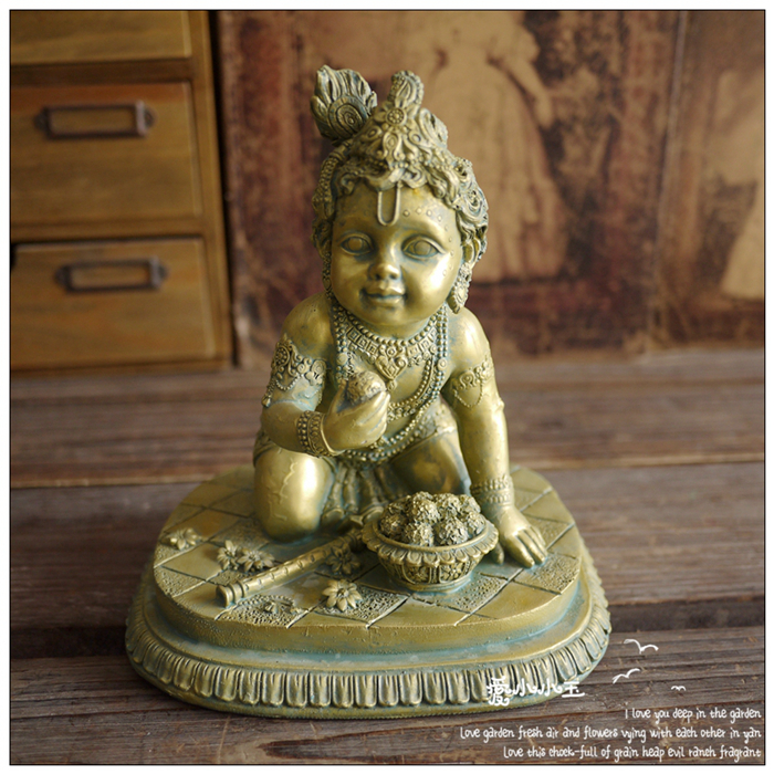 Indian Relic Resin Semi-hand Crafts Southeast Asian Mythology Characters Ornaments Home Living Room Lucky Decorations