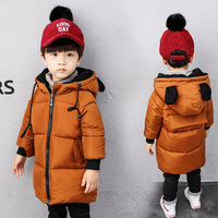 Kids Winter Jackets For Girls Boys Outerwear Children Thick Outerwear Boy Winter Coat Solid Parka Kid Clothes Outwears H225