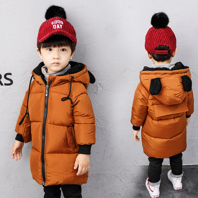 37944745fea67 US $32.96 31% OFF|Aliexpress.com : Buy Kids Winter Jackets For Girls Boys  Outerwear Children Thick Outerwear Boy Winter Coat Solid Parka Kid Clothes  ...