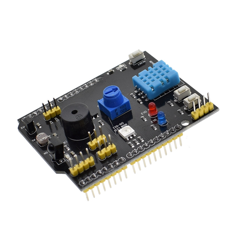 Dht11 Lm35 Temperature Humidity Sensor Multifunction Expansion Board Adapter For Arduino Uno R3 Rgb Led Ir
