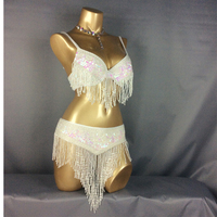 Wholesale Belly Dance Costume Set Bra Belt GOLD SILVER COLORS TF201