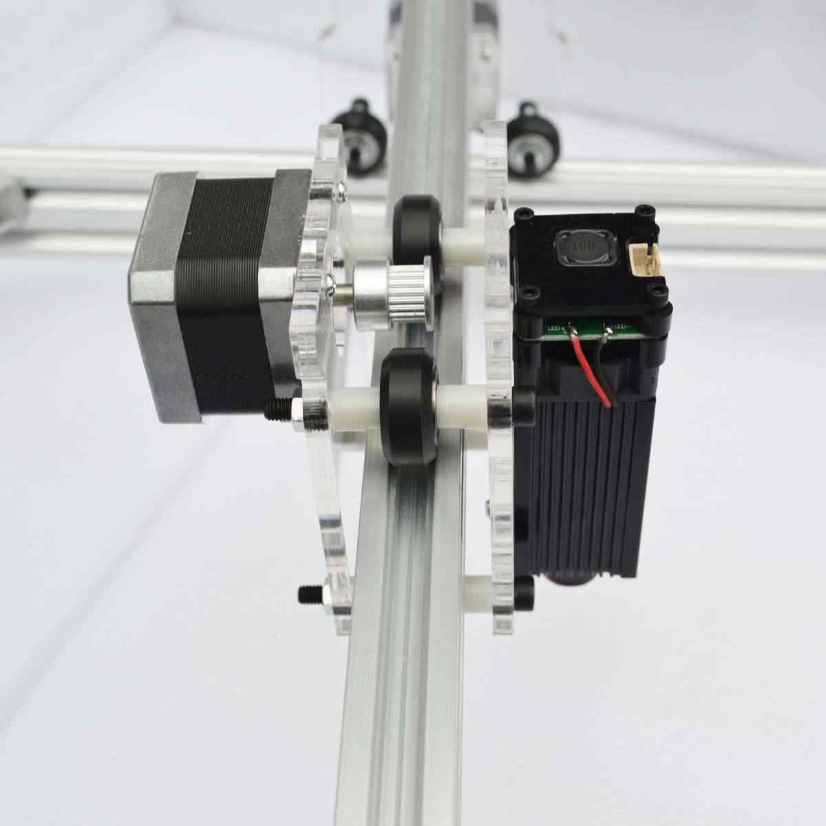 Mini 2500 mW bricolage Machine de gravure Laser DC 12 V CNC graveur alumine Laser Logo Machine de marquage Machine de découpe Machine d'impression