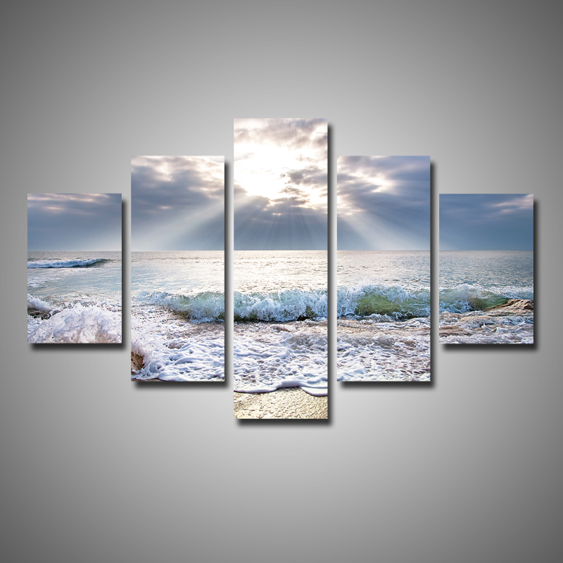 New arrival modular 5 pieces multi panel modern home decor for Modern home decor pieces