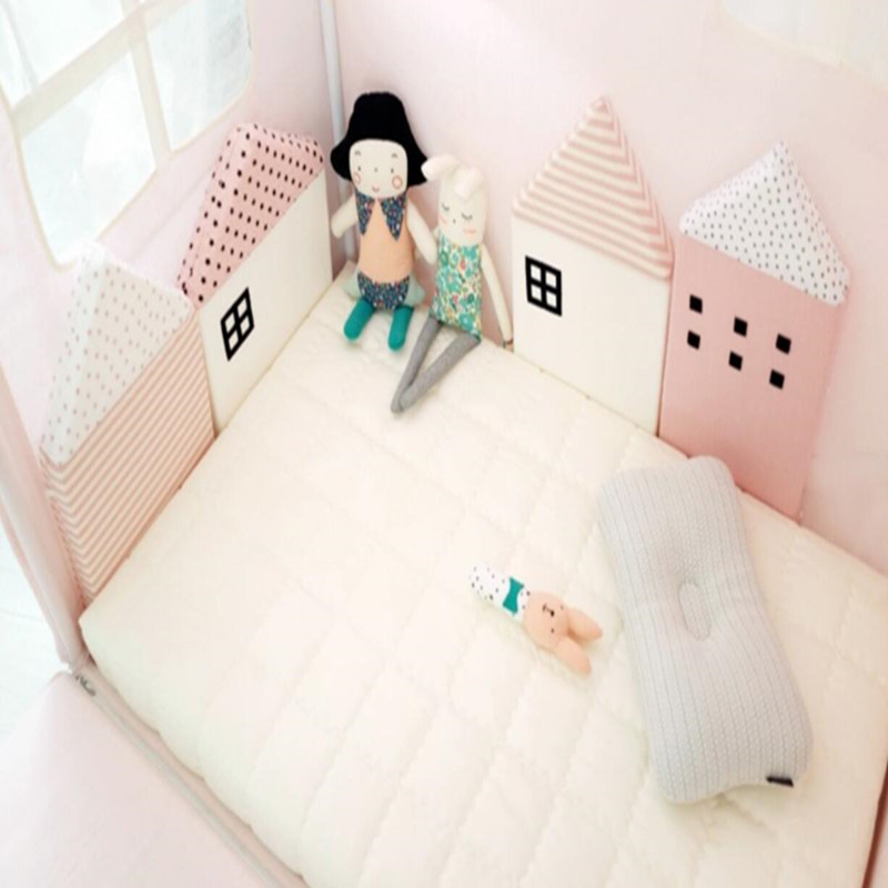 4 Pcs Sets Bedding Sets Beautiful Breathable Cotton Small House