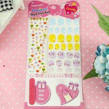 Wholesale Customization Children Nail Sticker Free Nail File Princess Manicure Sticker Kid Health Decals 2000pks free shipping