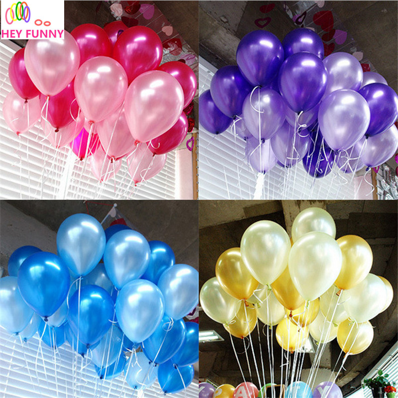 HEY FUNNY 100pcs/pack 10 inch 1.5g Latex balloon Helium Round balloons Thick Pea