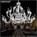 Современный Лебедь дизайн железная люстра светильник 18 головок хром цвет подвесной светильник с G4 лампы для гостиной фойе