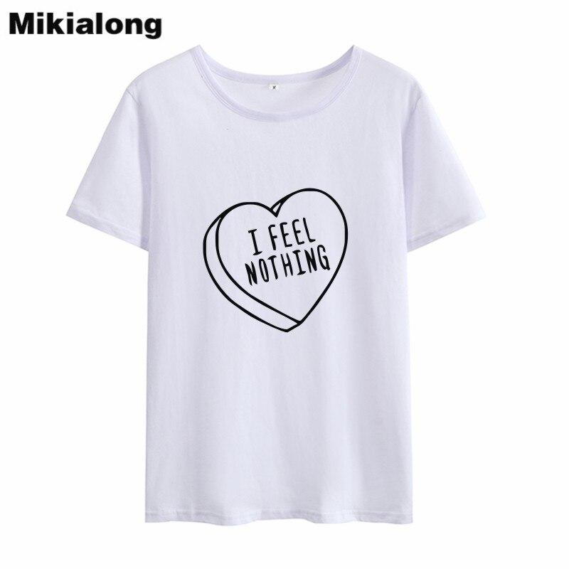 Женская хлопковая Футболка Mikialong, футболка с круглым вырезом и коротким рукавом, Kawaii, 2018