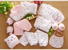 19 Pcs/Set Cotton Newborn Baby Girl Clothes Winter Autumn Baby Boy Clothing Set Cartoon Print New Born Gift(China)