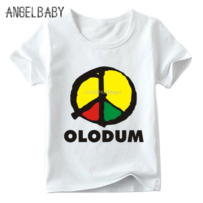Children Retro Antiwar Michael Jackson OLODUM Logo Print T Shirt Summer Baby Boys/Girls Tops Kids Casual Clothes,ooo5172