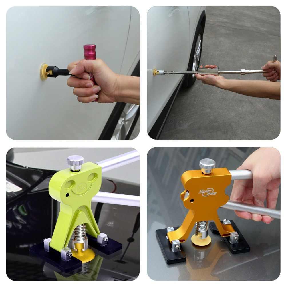Super PDR Tools Paintless Dent Repair Kit 4 Pcs Yellow Plastics Glue Tabs Car Dent Suction Cups For PDR Dent Pullers Ferramentas