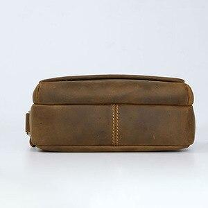 Image 3 - AETOO Mens leather shoulder bag simple cowhide crossbody bag male bag Japanese casual pack