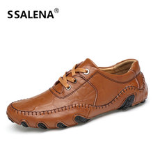 Men Leather Round Toe Dress Shoes Male Lace Up Front Oxford Shoes Men Fashion Flats Luxury Business Formal Shoes AA51508