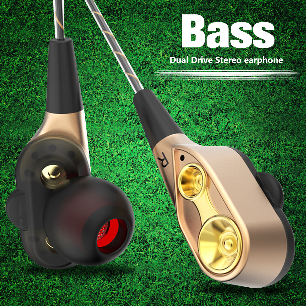 AIPAL V3 Wired earphone High bass dual drive stereo In-Ear Earphones With Microphone Computer earbuds For Phone Sport