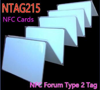 NFC NTAG215 Chip ISO14443A NFC Card RFID Tag for All NFC Mobile Phone 100pcs