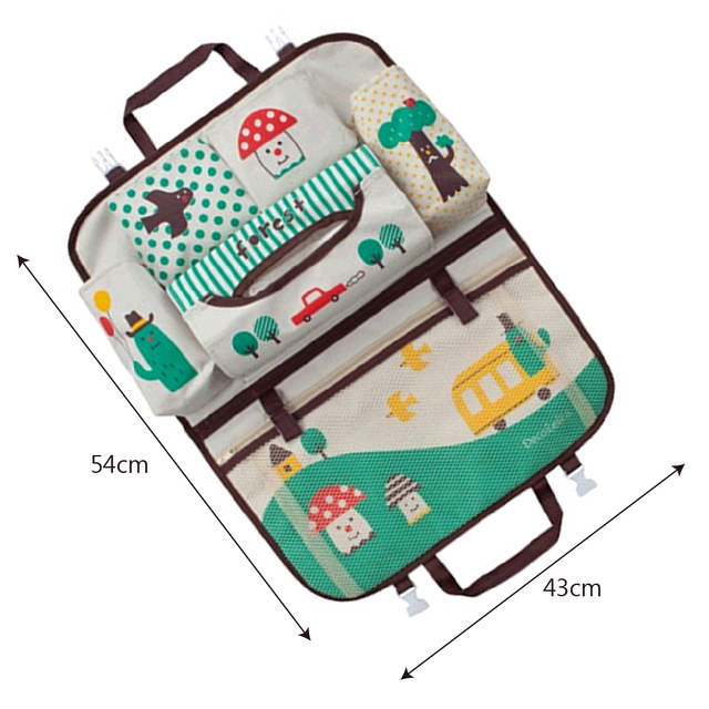 Waterproof Universal Baby Stroller Bag Organizer Baby Car Hanging Basket Storage Cartoon Seat Storage Bag Stroller Accessories