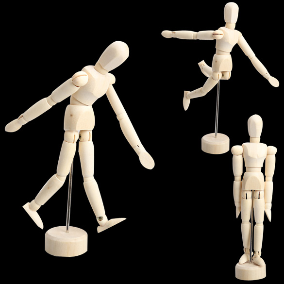 NEW Artist Movable Limbs Male Wooden Toy Figure Model Mannequin bjd Art Sketch Draw Action Toy Figures 4.5 5.5 8 INCH