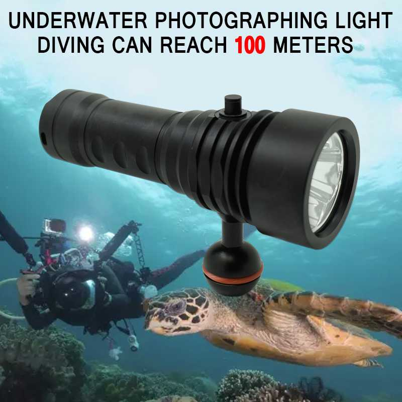 Underwater LED Diving Flashlight Powerful 3* XM-L2 LED 6000 Lumen 4 Modes Waterproof Diving Light Torch Lamp use 18650/26650 powerful 6 xm l2 waterproof dive light underwater 6000 lumen tactical led diving flashlight 26650 torch lamp lanterna