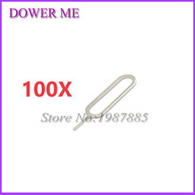 100Pcs/lot Sim Card Tray Remover Eject Ejector Pin Key open Tool for iPhone 4 4s 5 5s 5c 6 6s plus for iPad for SamSung xiaomi(China)