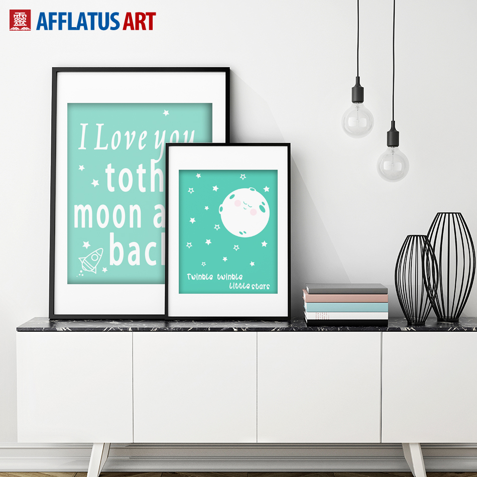 AFFLATUS Canvas Painting Minimalism Baby Love Song Wall Art Painting Canvas Poster Print Wall Pictures Kids