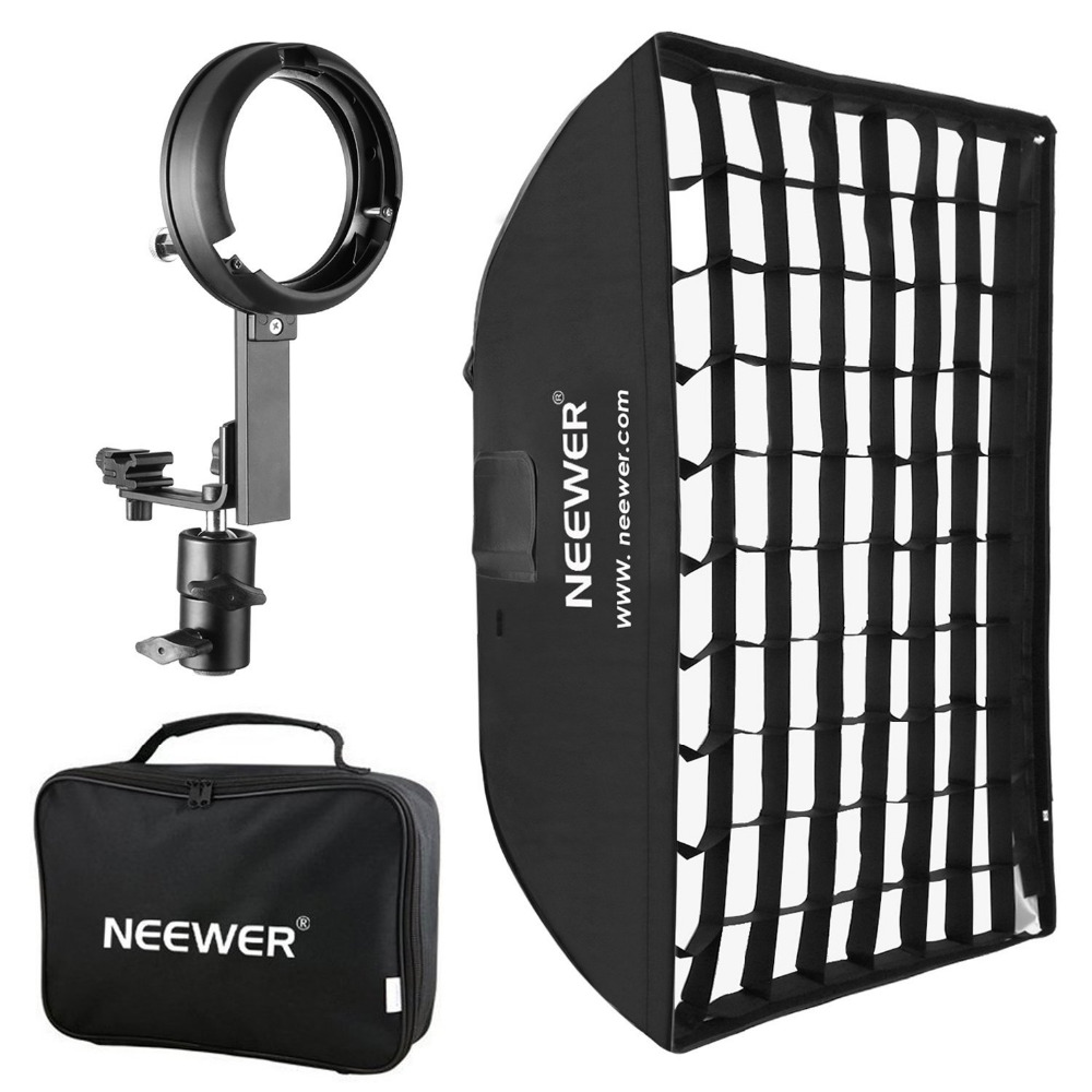 Neewer 24x35/60x90cm Honeycomb Grid Flash Softbox Diffuser+L-type Bracket+Bag for Nikon SB-600/800/900/910/Canon 380EX,430EXII