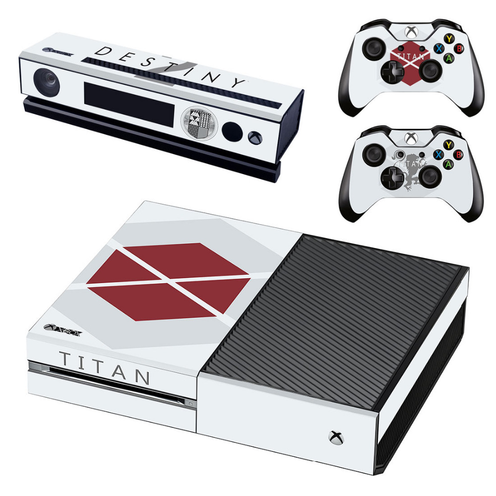 Game Destiny 2 Skin Sticker Decal For Microsoft Xbox One Console and 2 Controllers For Xbox One Skin Sticker