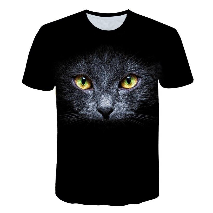 BIAOLUN новая крутая футболка Мужская/Женская 3d Футболка с принтом двух котов с коротким рукавом летние топы футболки мужские S-6XL