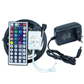 150 leds/5 M SMD 5050 RGB LED Tira Flexível Fita Diodo 12 V LED Fita Led strip + 44 teclas de IR controlador Remoto + 12 V 2A Poder adaptador