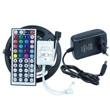 150 leds/5 M SMD 5050 RGB LED Bande Flexible Diode Bande 12 V LED Ruban Led bande + 44 touches télécommande IR + 12 V 2A Puissance adaptateur(China (Mainland))