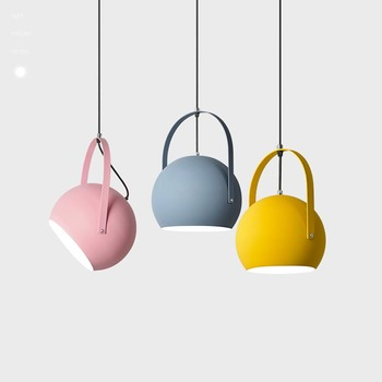Modern Pendant Lights Dining Room Pendant Lamps Modern Colorful Restaurant Coffee Bedroom Lighting Macarons Painted Lampshade