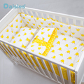 3 Pcs Cotton Crib Bed Linen Kit Cartoon Baby Bedding Set Includes Pillowcase Bed Sheet Duvet Cover Without Filler
