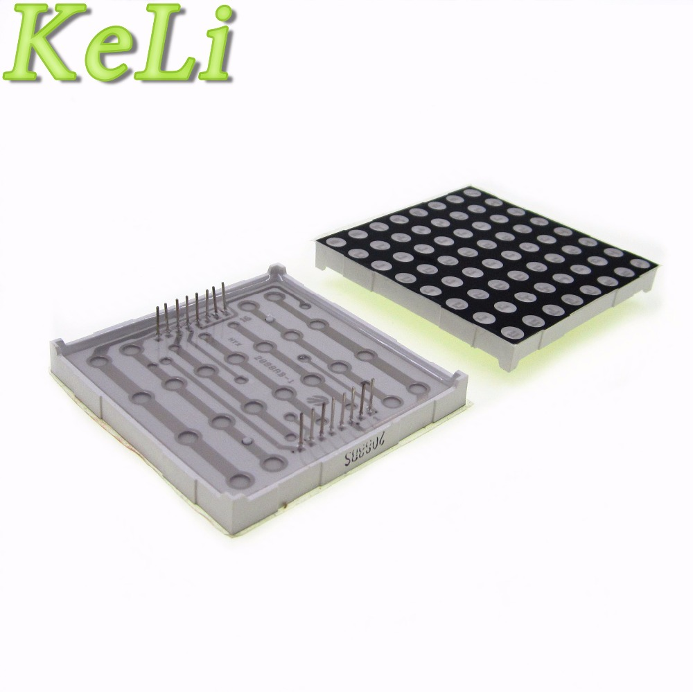 LED Dot Matrix Display 16pin 8x8 3mm Red Common Anode For AVR 1588BS
