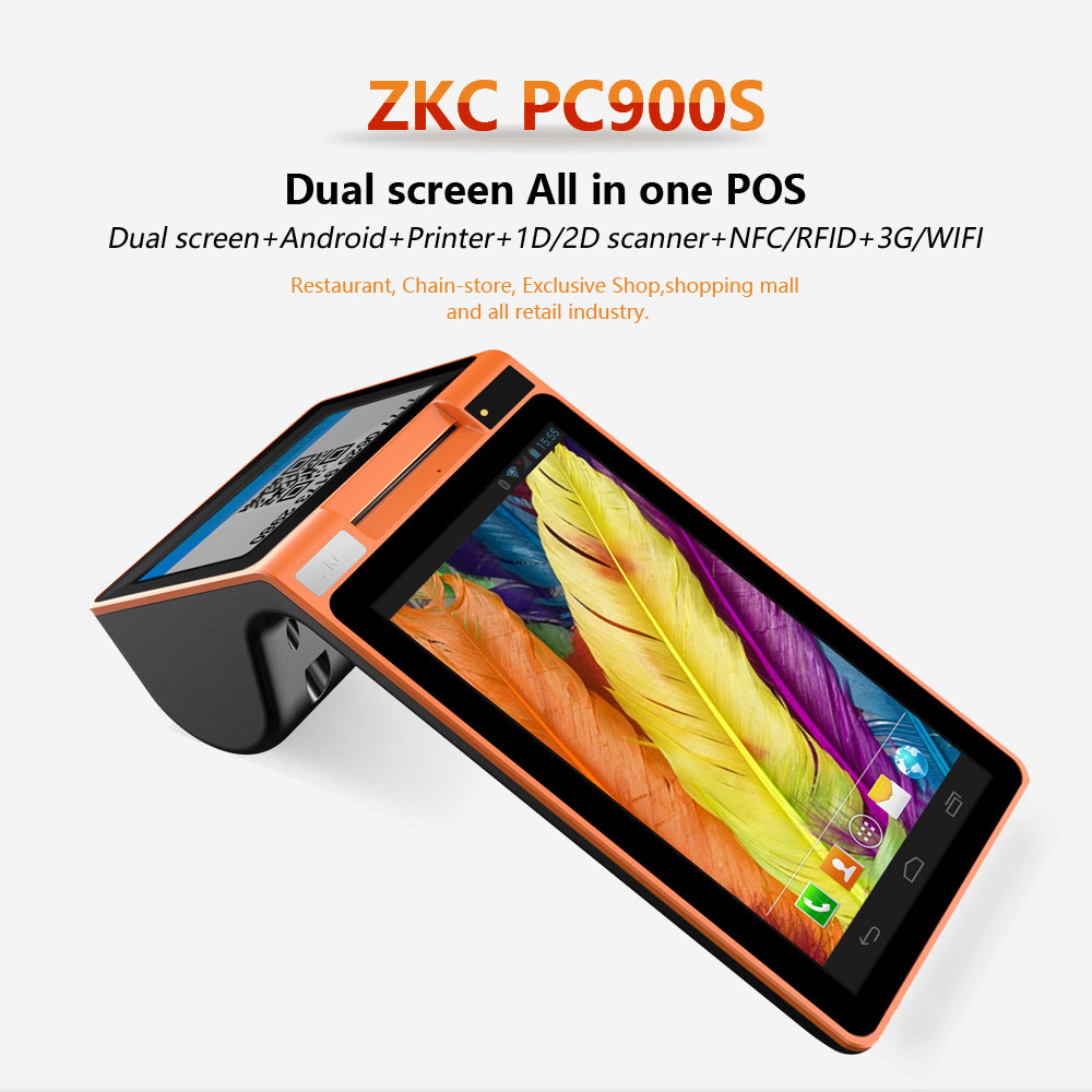 US $220 0  7inch Android smart terminal with printer and RFID reader  ,support QR code and nfc payment ,free SDK-in Printers from Computer &  Office on