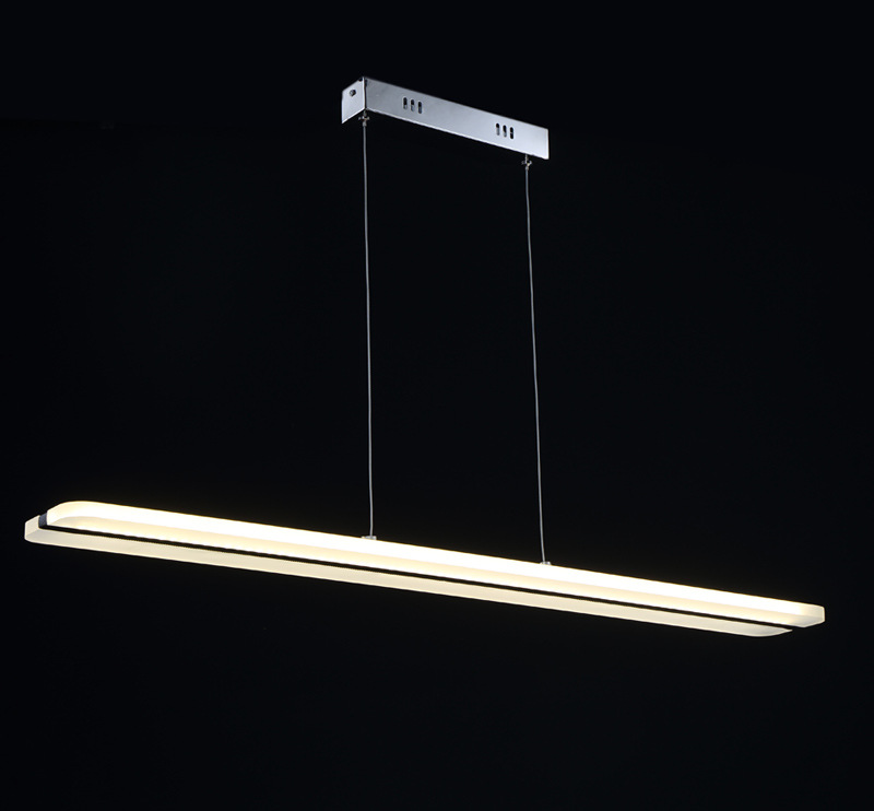 L100cm Modern Pendant Lights For Restaurant Dining Room Decorative Hanging Lamp Fixture LED Acrylic Light Luminaire 38W WPL144 hghomeart children room iron aircraft pendant light led 110v 220v e14 led lamp boy pendant lights for dining room modern hanging