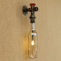 Tường công nghiệp đèn Glass shade LED Tắm tường ánh sáng với G4 cạnh giường ngủ ánh sáng ánh sáng foyer nghiên cứu trang trí Đồn Nh