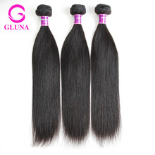 8A Peruvian Virgin Hair Straight 3 Bundles Gluna Hair Products Cheap Peruvian Straight Hair Unprocessed Human