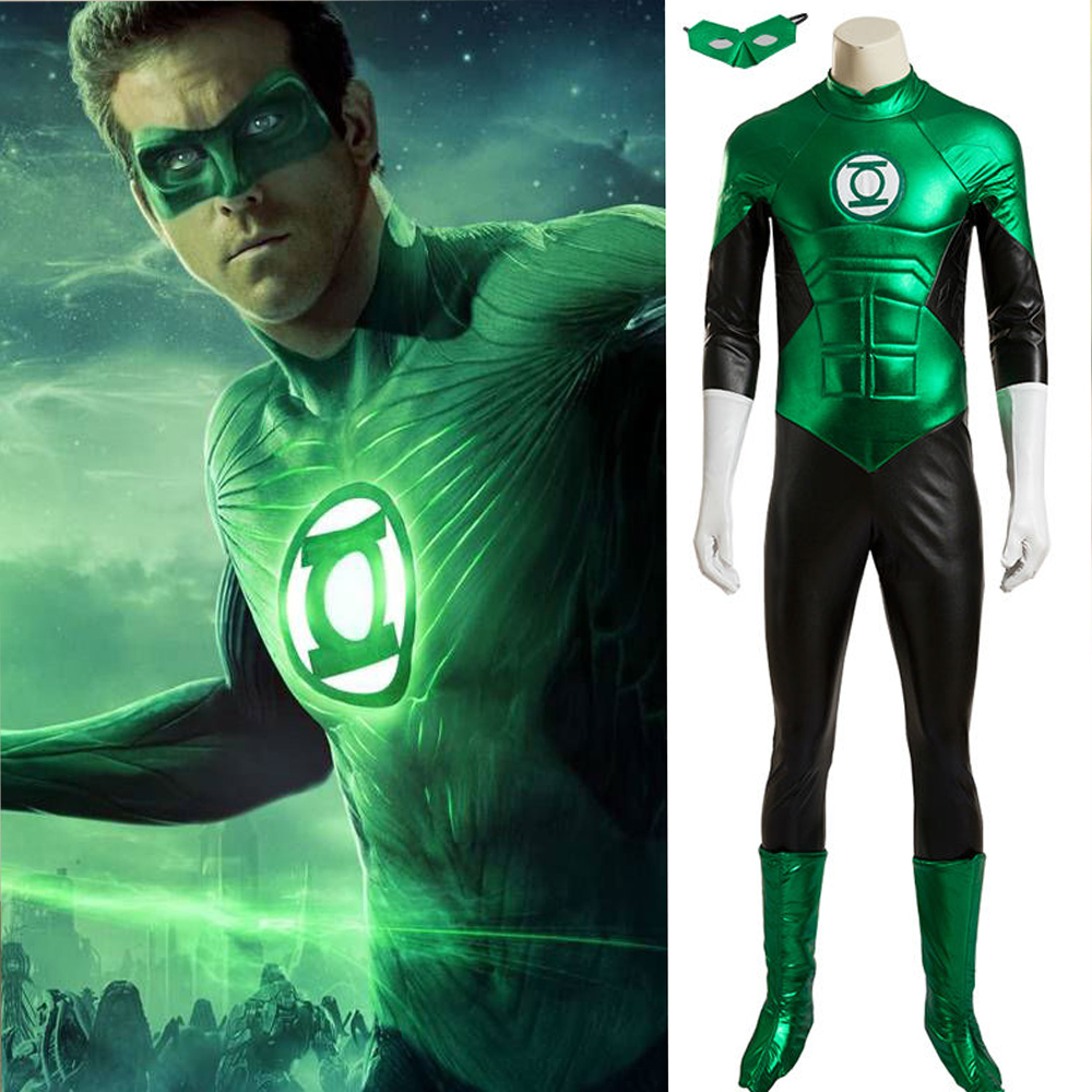 Hero Catcher High Quality Custom Made Hero Green Lantern Cosplay Costume Green Lantern Suit Super Hero Green Lantern Costume