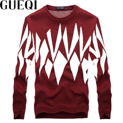 Gueqi classic printed men fashion red sweaters size m 2xl autumn winter knitted clothing 2017 man.jpg 250x250