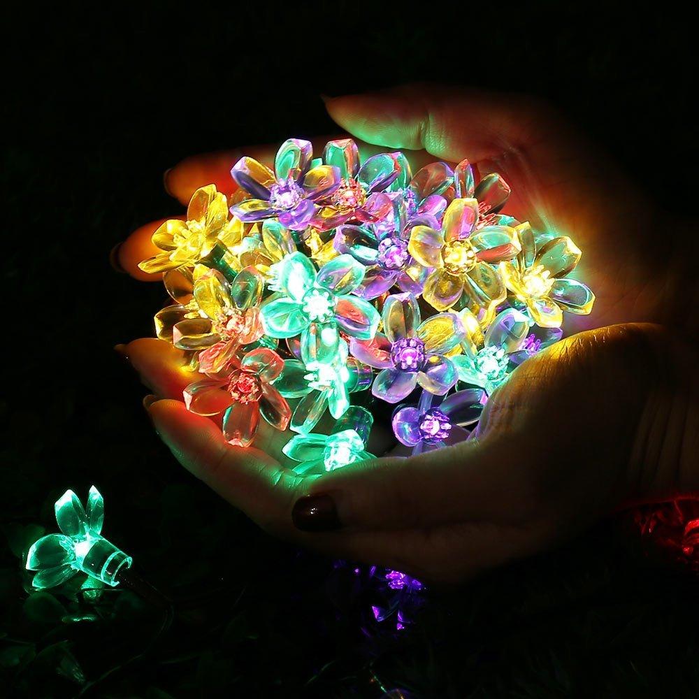 Күн сымының шамдары, 7M 12M 60LED 100LED LED - Мерекелік жарықтандыру - фото 3