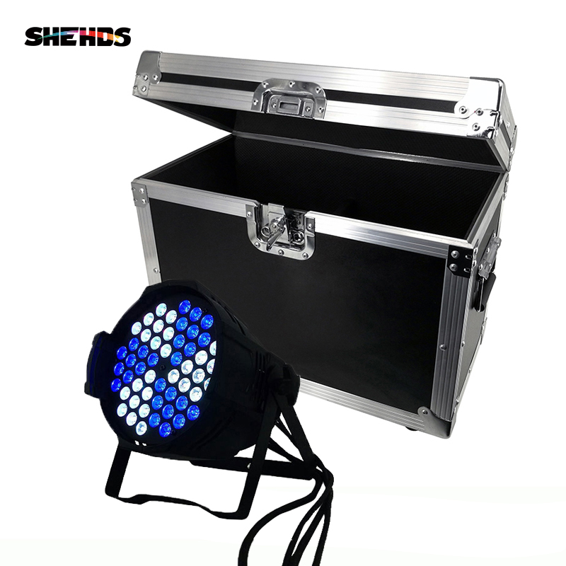 Flight Case With 2/4/6/8 Pieces Aluminum Alloy LED Can Par 54x3W Lighting Professional DMX512 LED Light For DJ Disco KTV Party