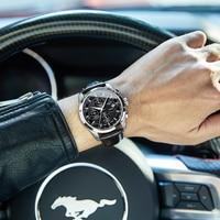 Carnival Mechanical Watch Men 40mm Luminous Calendar Waterproof Watch Hardlex Case Orologio Uomo Relogio Masculino de Luxo