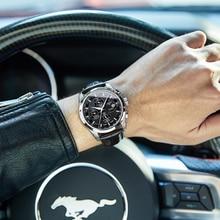 Карнавальные механические часы мужские 40 мм светящиеся водонепроницаемые часы с календарем Hardlex Case Orologio Uomo Relogio Masculino de Luxo
