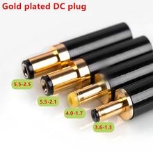 Banhado a ouro plugue dc 5.5*2.5 5.5*2.1 4.0*1.7 3.5*1.3 para dac tv caixa amplificador cabo de alimentação g50