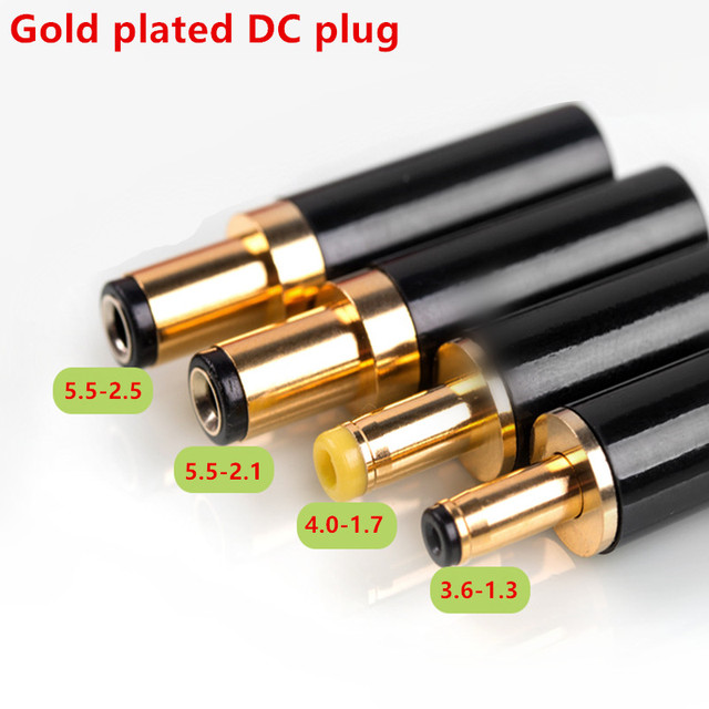 Vergulde Dc Plug 5.5*2.5 5.5*2.1 4.0*1.7 3.5*1.3 Voor Dac Tv Box versterker Voedingskabel G50