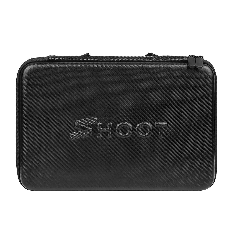 SHOOT Large Size Waterproof Carrying Storage Case for Gopro Hero 6 5 4 3+ 3 Xiaomi Yi SJ4000 SJ5000 SJ6000 and Other Action Ca universal waterproof camera bag vedio dv case for gopro hd hero 3 3 4 sj6000 sj5000 sj4000