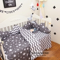 3cps/set 100% cotton Ins Hot baby Bedding set include pillowcase plat sheet quilt case Stripes and stars