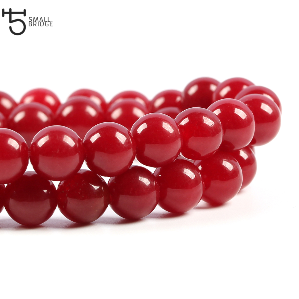 6 8 10mm Austria Natural <font><b>Red</b></font> <font><b>Coral</b></font> Stone Beads Diy Bracelet Necklace Beads Loose Spacer Stone Beads for jewelry making S009 image